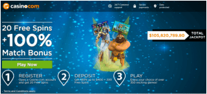 220 free spins on Age of the Gods slot