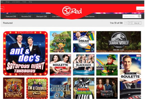 32 Red Casino Ireland- Slots to enjoy