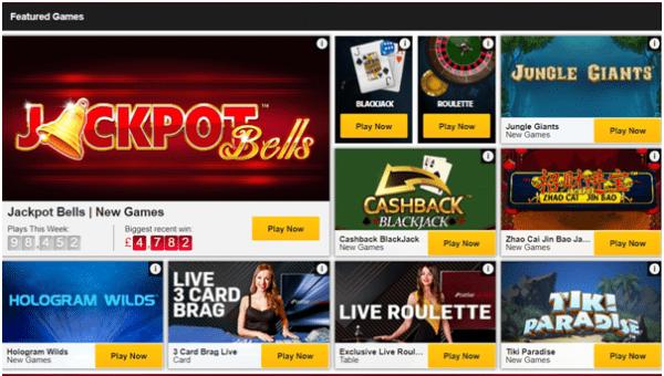 Betfair casino games