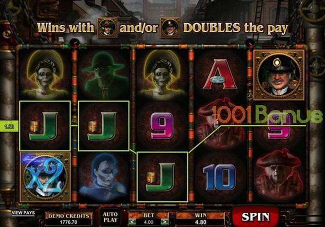 Bonus and paylines-Phantom Cash Slot Game
