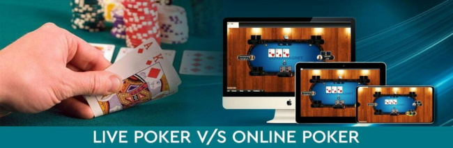 How live and online poker is different