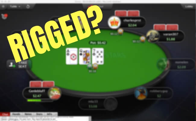 Is online poker fixed