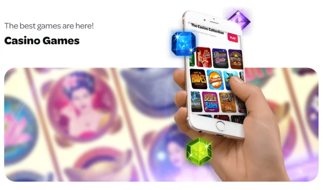 There are 4 mobile slots categories at Spin casino
