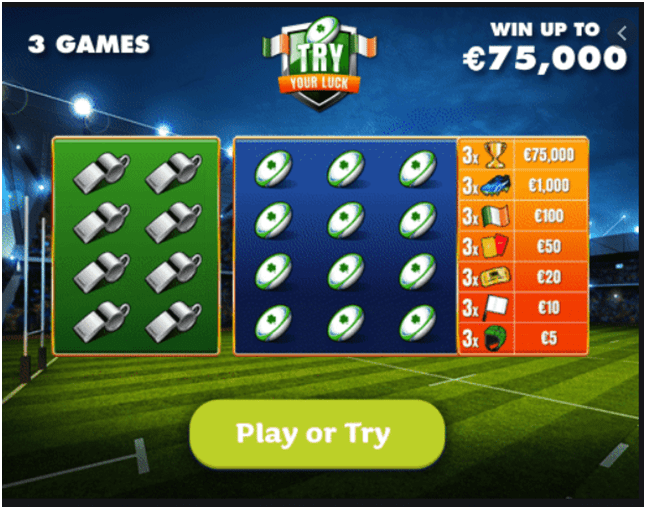 Games to play in Try Your Luck Lotto