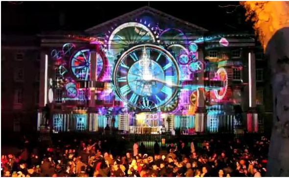 New Year Eve in Dublin Ireland