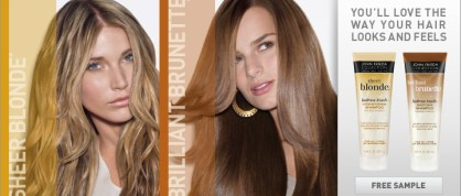 Free Samples of John Frieda Sheer Blonde or Brilliant Brunette
