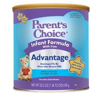 Free Samples of Parent's Choice Advantage Infant Formula