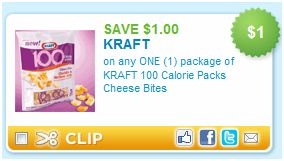 Kraft 100 Calorie Cheese Bites for $0.99 at Target