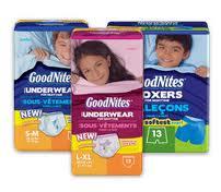 Free Samples of GoodNites Underwear
