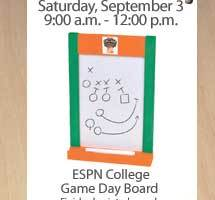 Free ESPN College Game Day Board Workshop at Home Depot