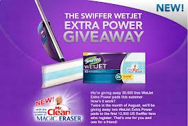 Free Swiffer WetJet Extra Power Pads – First 50,000