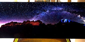 Giveaway: Panoramic Milky Way Galaxy Photo on Metal