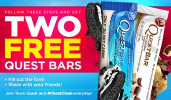 Two Free Quest Nutrition Bars
