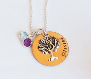 hand stamped necklaces