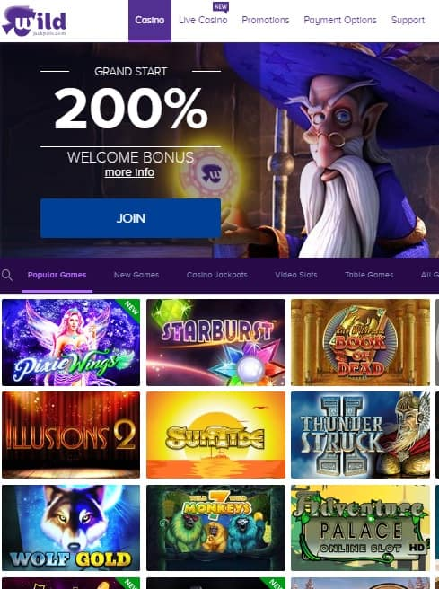 WildJackpots Casino Review