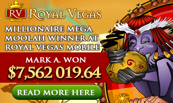 $7,562,019.64 Mega Moolah Jackpot Winner at Royal Vegas Casino