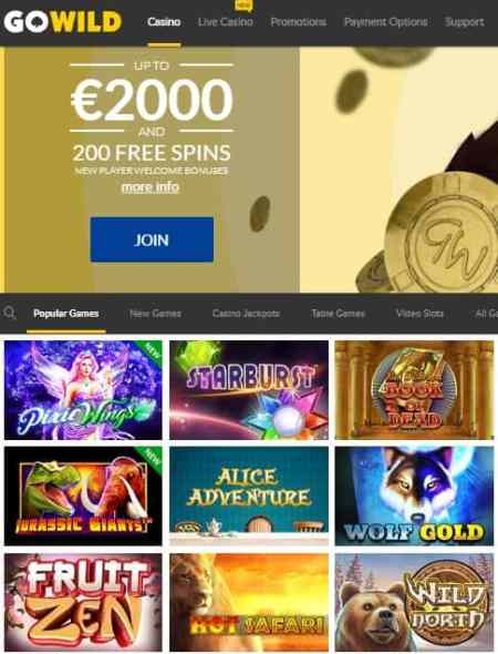GoWild Casino Reviews