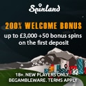 Spinland Casino 200 free spins and $3500 welcome bonus