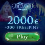 Joy Casino – 2000€ free cash and 200 free spins – no deposit bonus