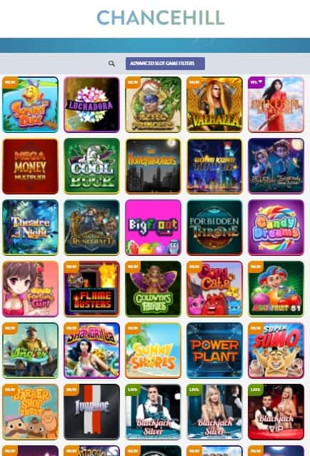 ChanceHill Casino - free spins bonus
