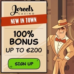 JoReels Casino Review: 50 free spins + 100% bonus up to €200