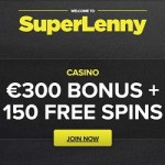 SuperLenny Casino (Review) - 150 free spins & €300 welcome bonus