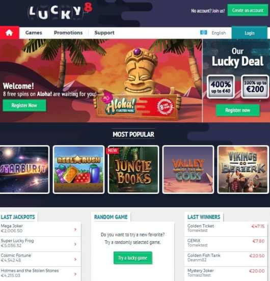 Lucky 8 Casino Review