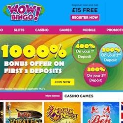 Wow Bingo Casino banner 250 x 250