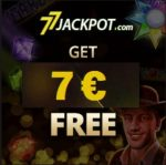 77 Jackpot Casino €7 gratis + 900% up to €3000 free bonus codes