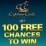 Captain Cooks Casino 100 free spins on Mega Moolah – exclusive bonus