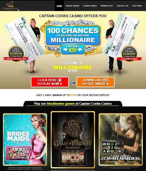 Captain Cook's Casino Online free spins bonus