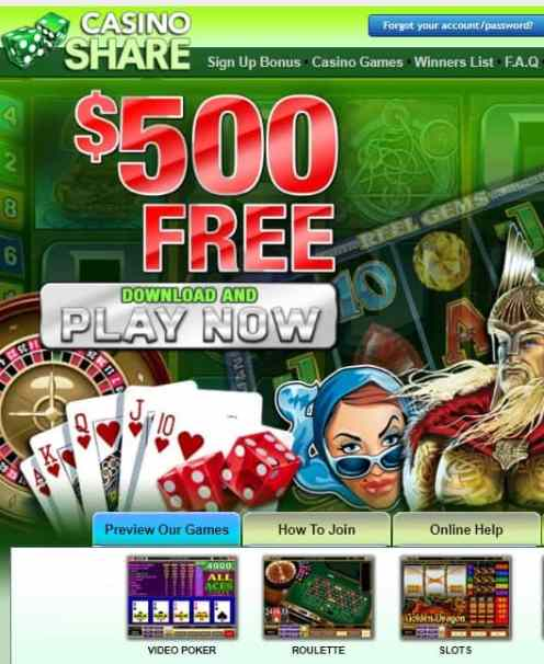 Share Casino Review