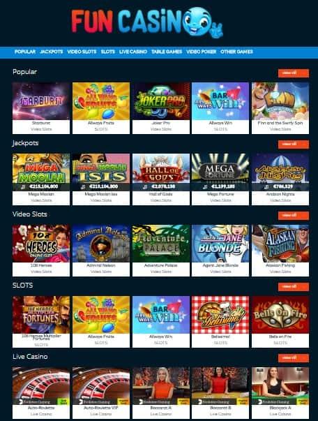 FUN Casino free bonus