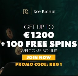 Roy Richie (Casino & Sports) 100 free spins and €1200 free money
