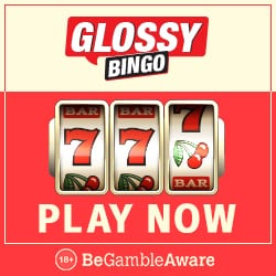 Glossy Bingo Casino - 50 free spins and £100 exclusive free bonus