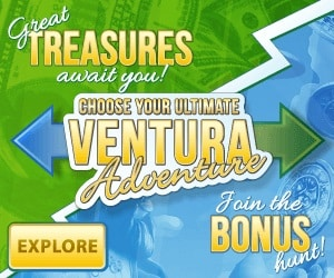 Casino Ventura 100% welcome bonus and €600 in weeky free spins