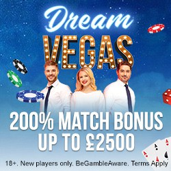 Dream Vegas Casino £/€/$7500 bonus + 120 gratis spins for new players