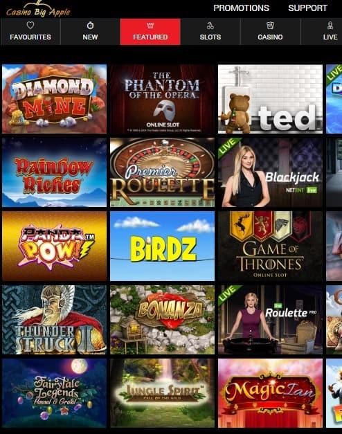 Casino Big Apple free spins bonus