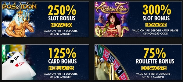 Super Nova Casino bonuses