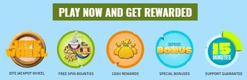 CasinoJEFE welcome bonus