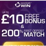 PocketWin Mobile Casino - £10 free bonus no deposit needed