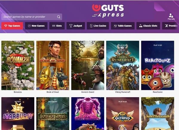 Guts Xpress Casino review