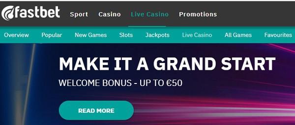 Fastbet Casino & Sportsbook no account needed