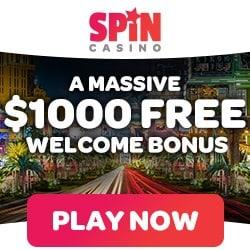 Spin Casino (spincasino.com) $1000 bonus and $200 free bet spins
