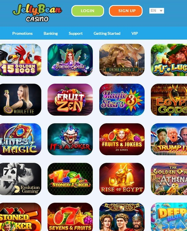 Jelly Bean Casino free play games