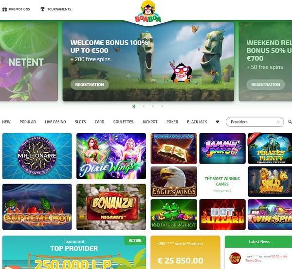 BoaBoa Casino Online & Mobile