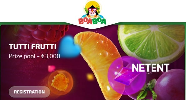 BoaBoa Casino 3000 EUR tournament, prize pool
