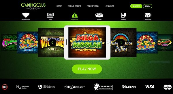 Gaming Club Casino welcome bonuses