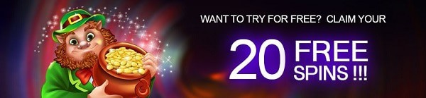 20 free spins on registration! No Deposit Required!