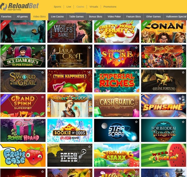 Reload Bet Casino Review